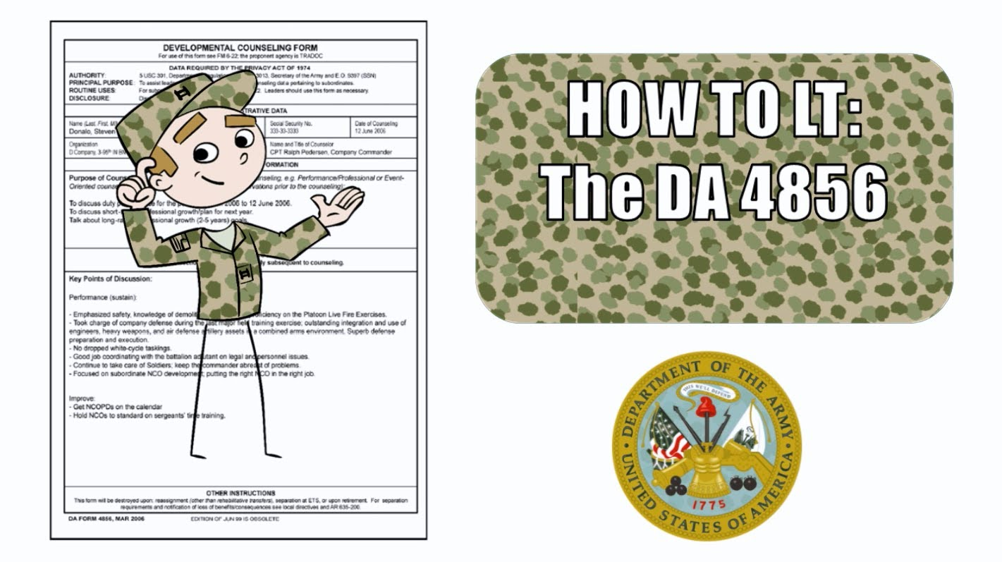 The DA Form 4856 (Developmental Counseling Form) - Guidelines!!