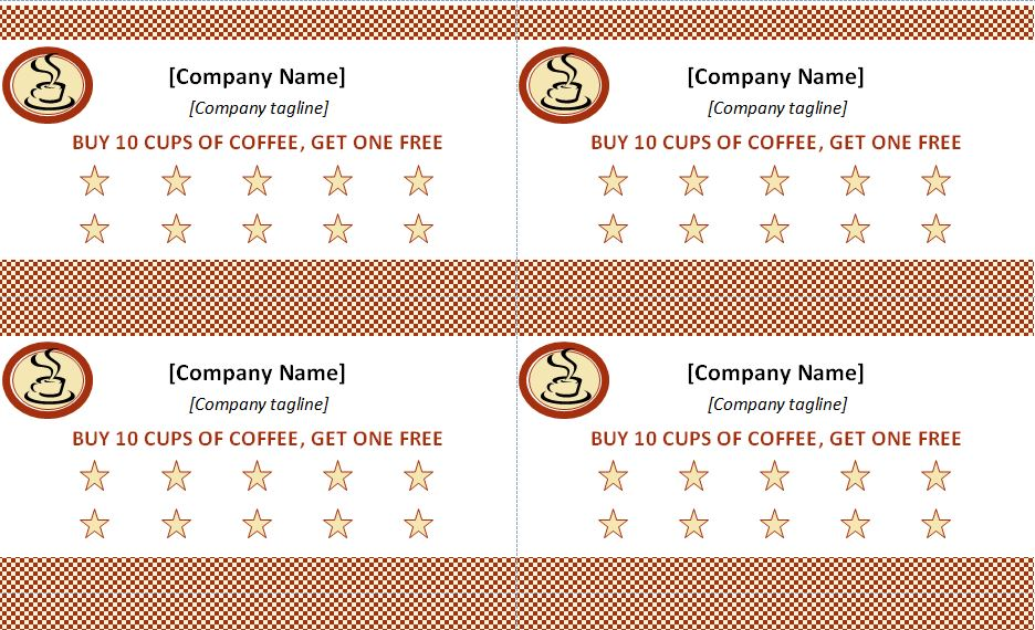 4 Punch Card Templates Free Download
