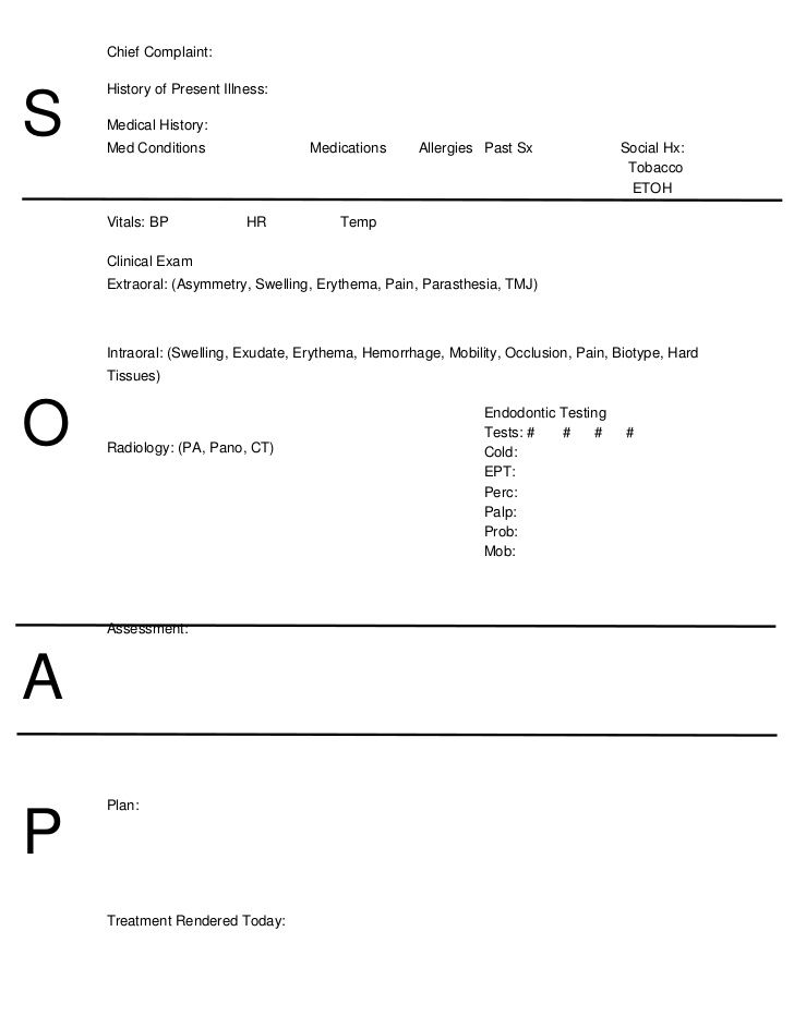 10 soap note template free download word excel pdf for Clinical notes template